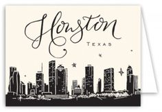 236x164 Houston Skyline Texas City Skyline Typography Print By Typeline
