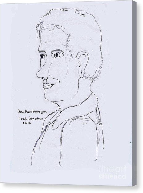 463x622 Sam Houston Drawing By Fred Jinkins