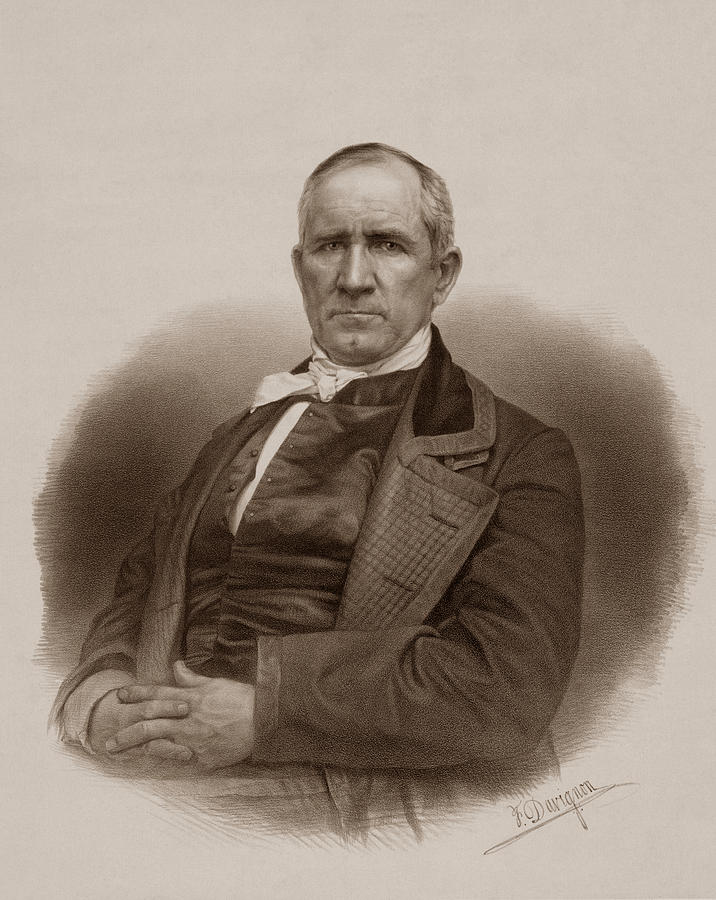 716x900 Sam Houston Portrait Drawing By War Is Hell Store
