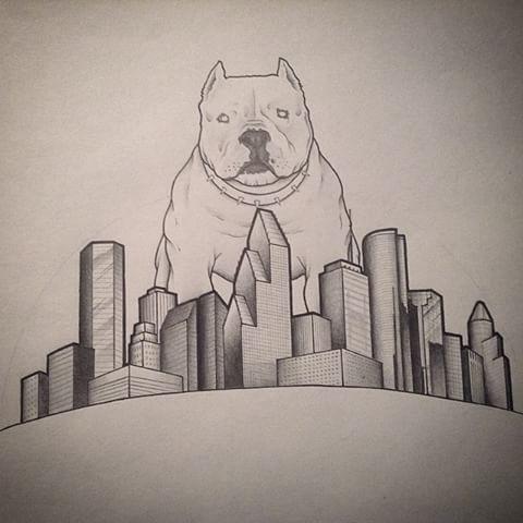 480x480 Houston Skyline Drawing Image Group