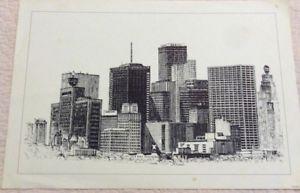 300x193 Vintage Pen Amp Ink Drawing Houston Texas Ricardo 1970 Copy Signed