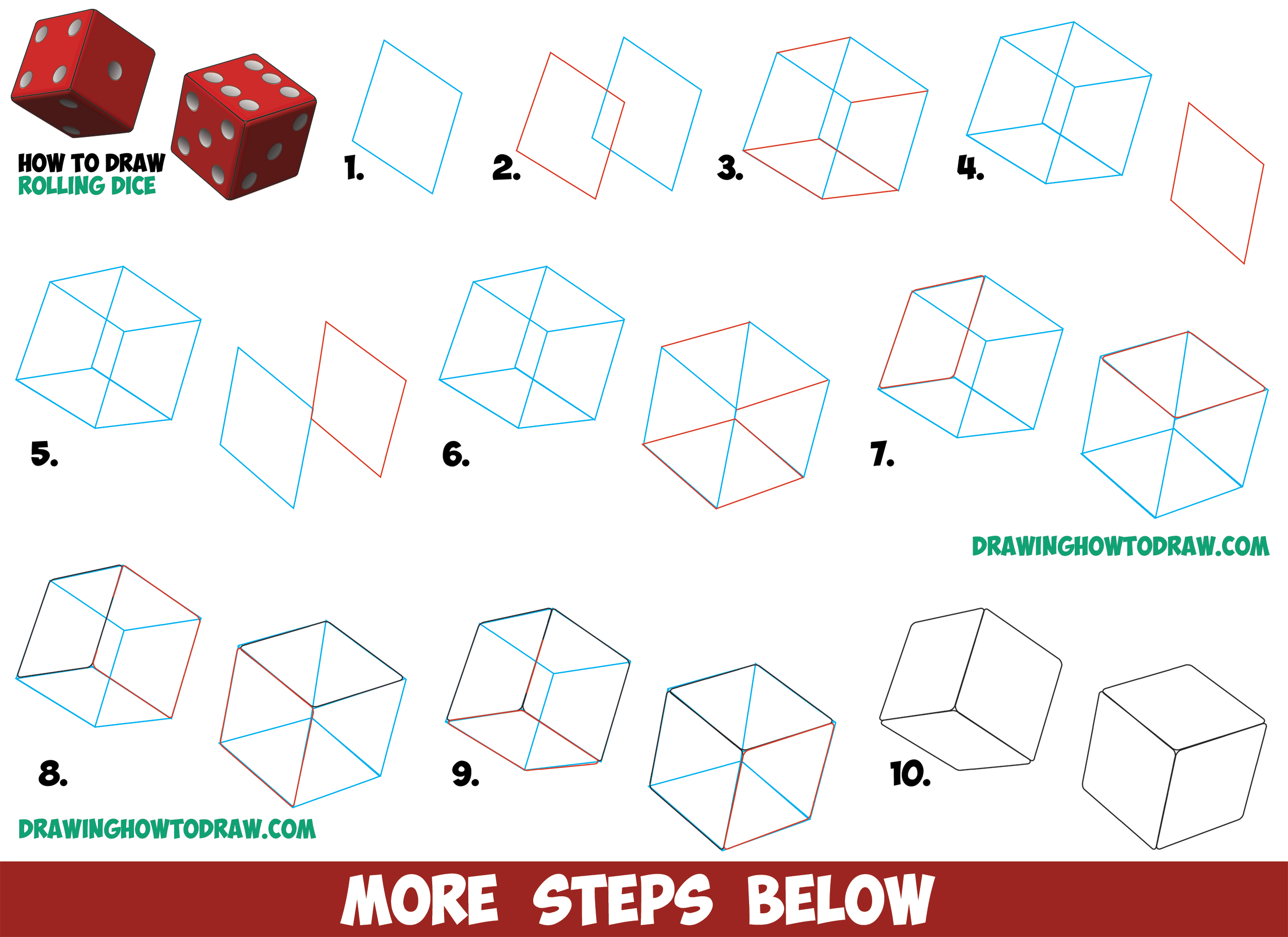2500x1819 How To Draw Dice Rolling Or Being Rolled With Easy Step By Step