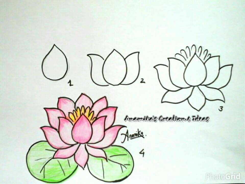 960x720 How To Draw An Easy Flower Kids Drawing Flower