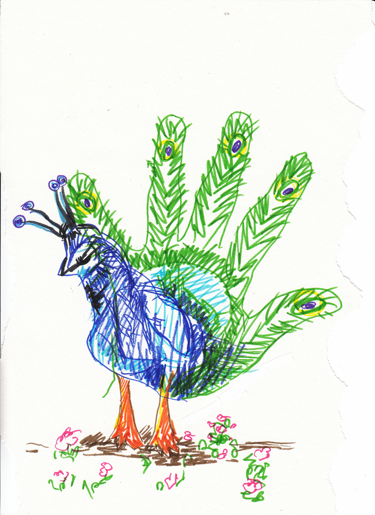 747x1024 Trace Your Hand And Make It Into An Exotic Turkey (Usa Kids Did
