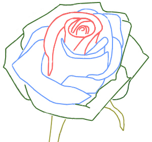 300x282 How To Draw A Rose Bud