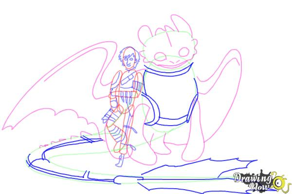 600x400 How To Draw Hiccup And Toothless From How To Train Your Dragon 2