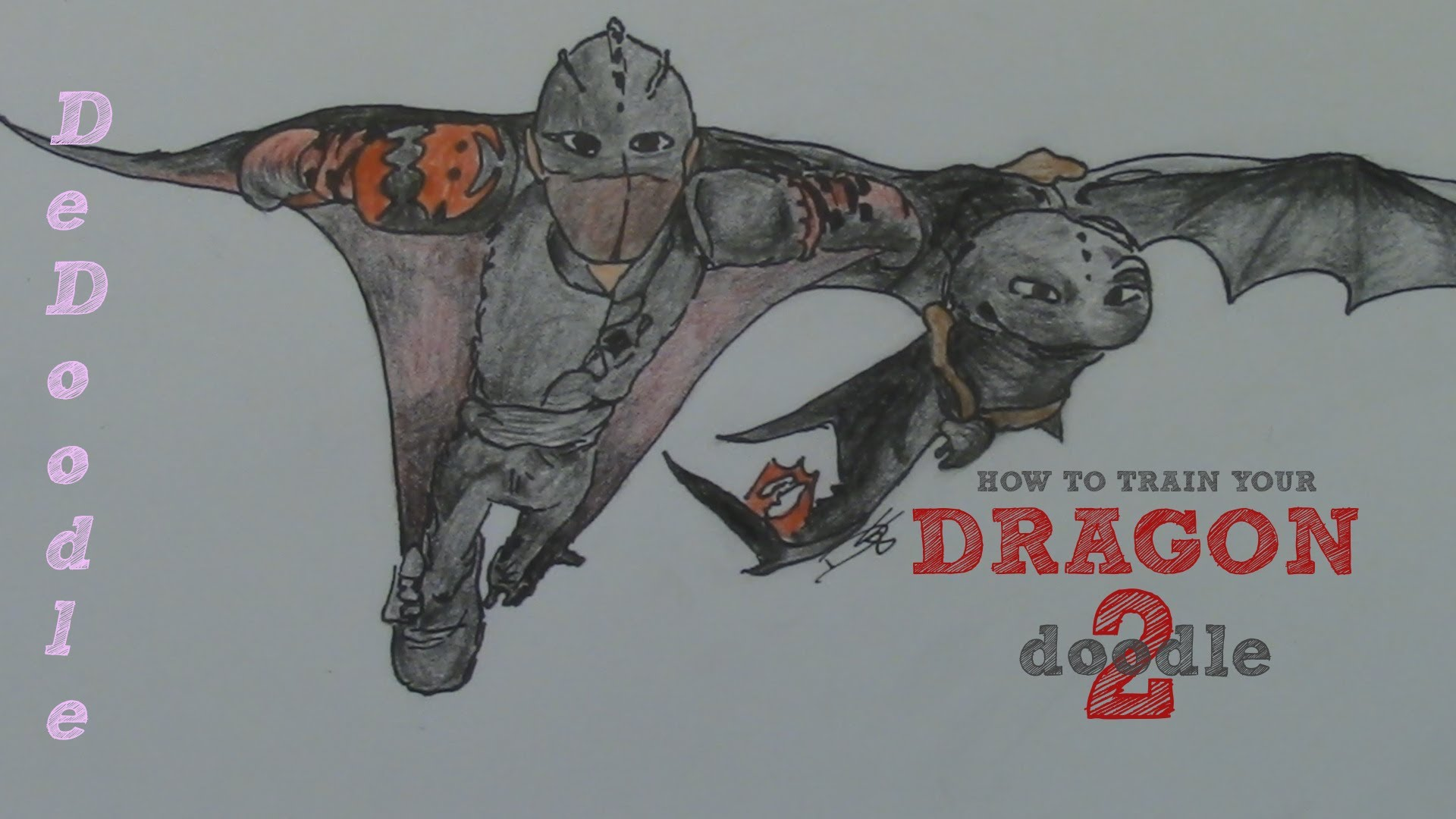 1920x1080 How To Draw Toothless And Hiccup Skydiving