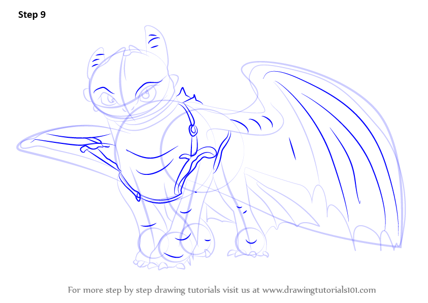 843x596 Learn How To Draw Toothless From How To Train Your Dragon 2 (How