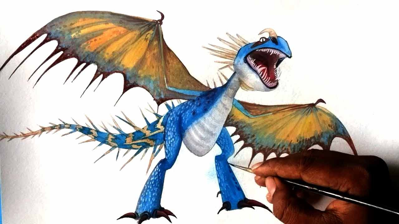 1280x720 How To Draw Dragon Deadly Nadder From How To Train Your Dragon