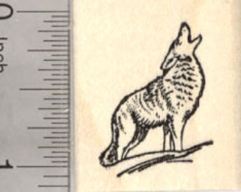 340x270 Howling Coyote Bookmark Hand Tooled Leather Bookmark Wolf Gift