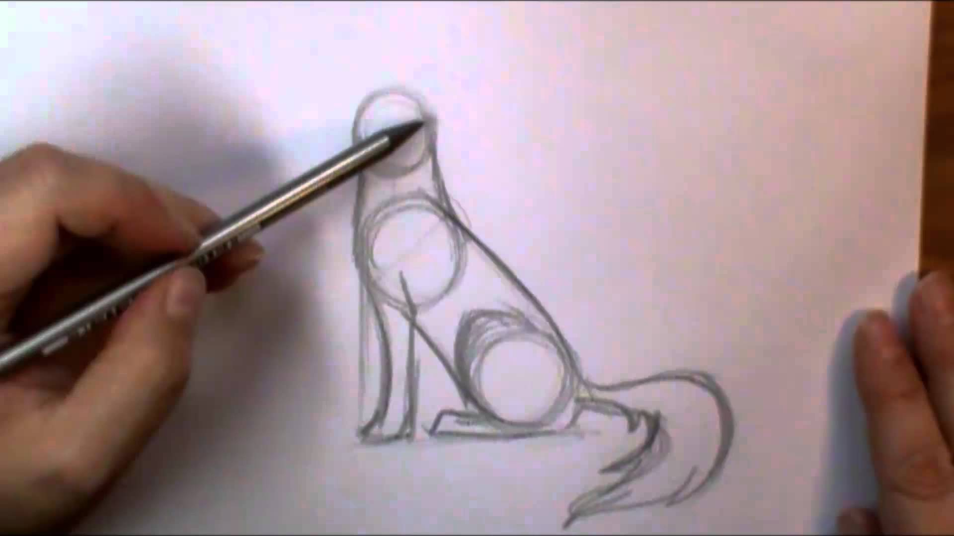 1920x1080 How To Draw A Wolf Howling
