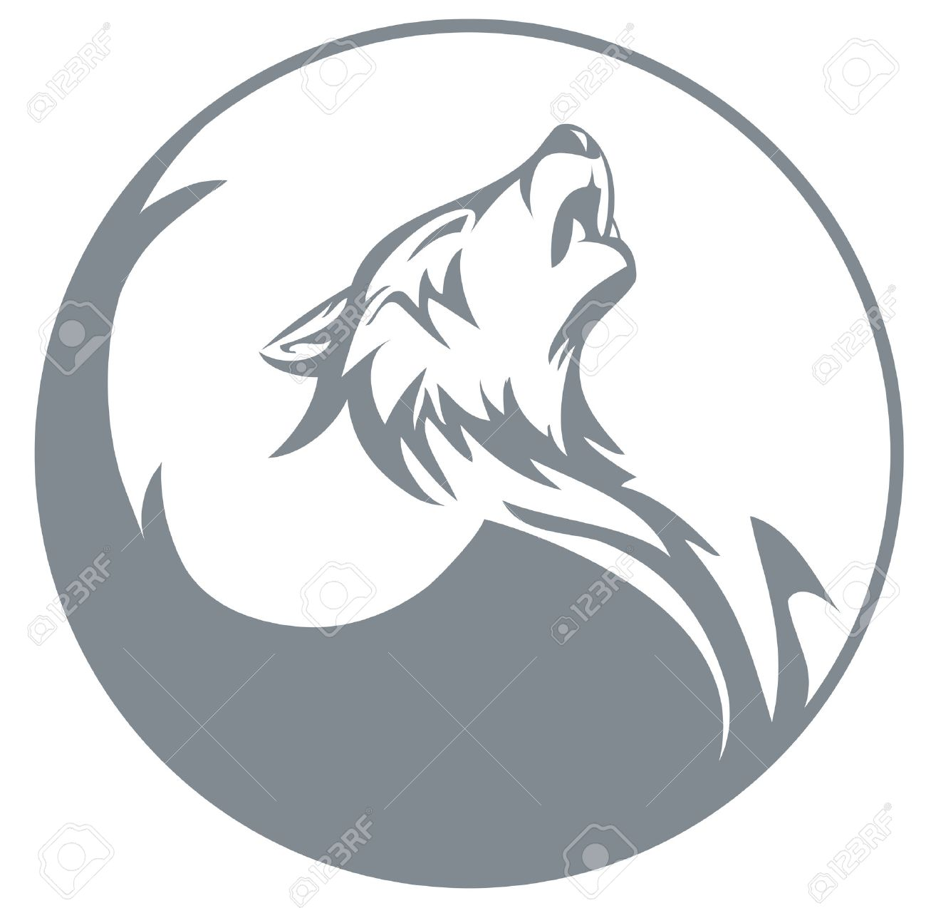 1300x1274 Howling Wolf Royalty Free Cliparts, Vectors, And Stock