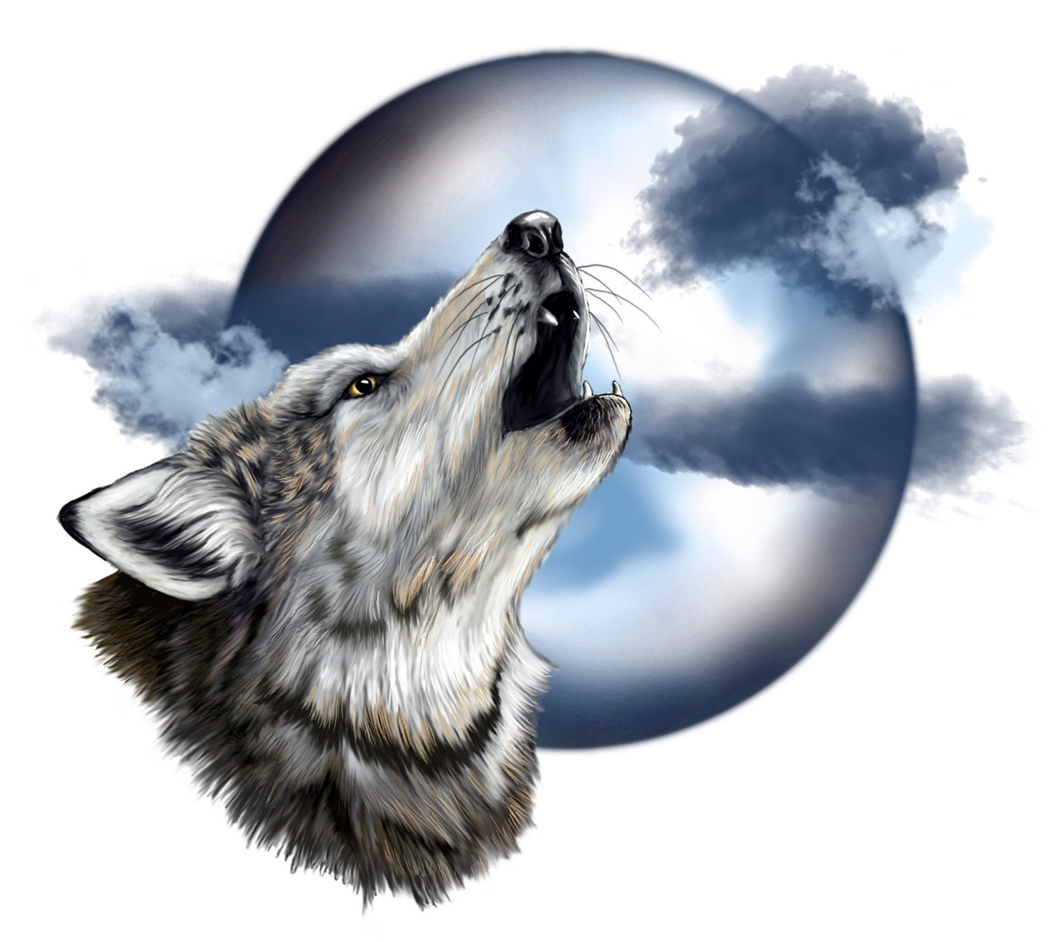 Howling Wolf Head Drawing At Getdrawings
