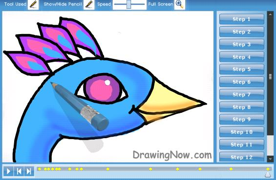 565x370 How To Draw Peacocks Drawing Tutorials Amp Drawing Amp How To Draw