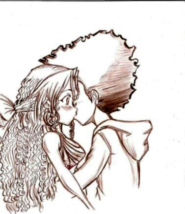 377x434 Huey And Jasmine Kissing Art Jasmine, Drawings
