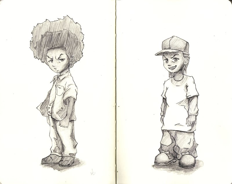 800x636 The Boondocks Huey And Riley By Willaustinsarchive