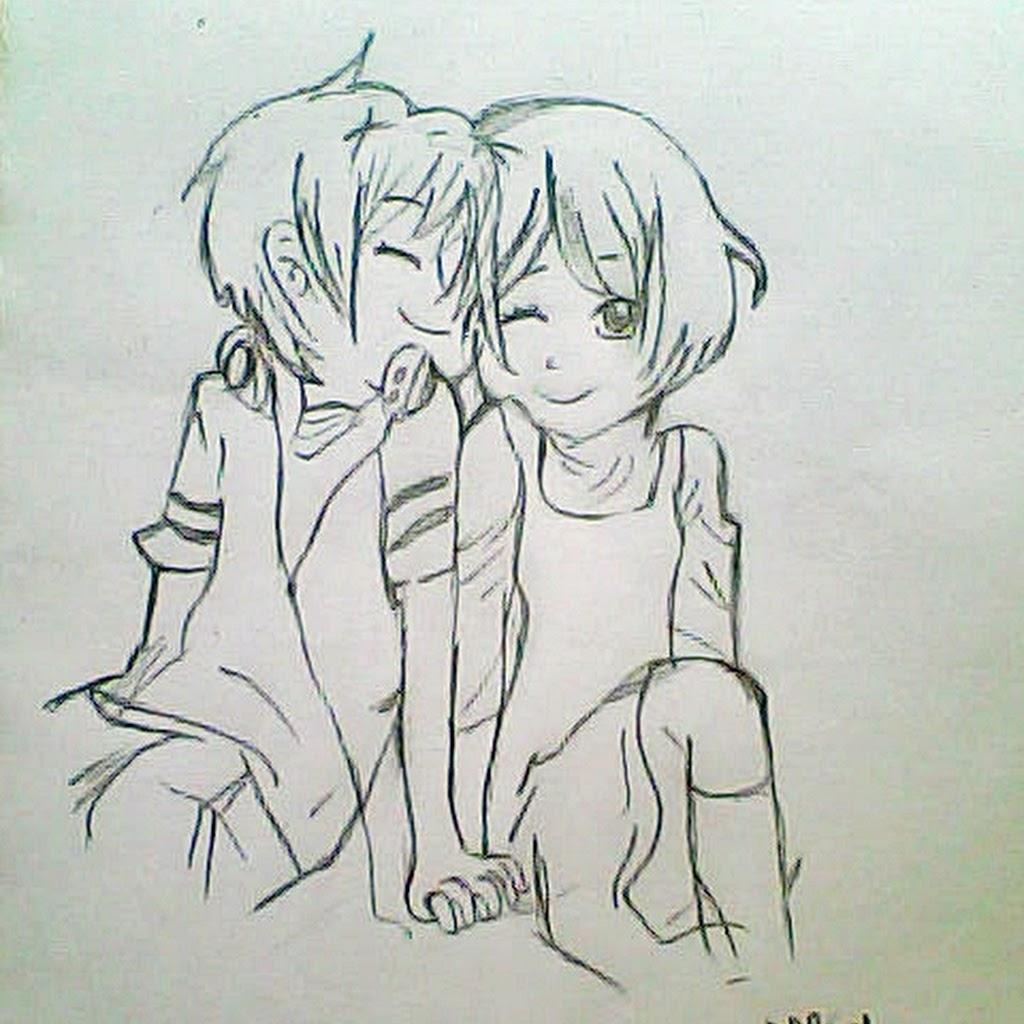 1024x1024 Couple Hug Drawing Draw By Pencil Draw Beautiful Couple Hugging