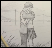 200x184 How To Draw Hugging People And Animals In Loving Embraces Easy