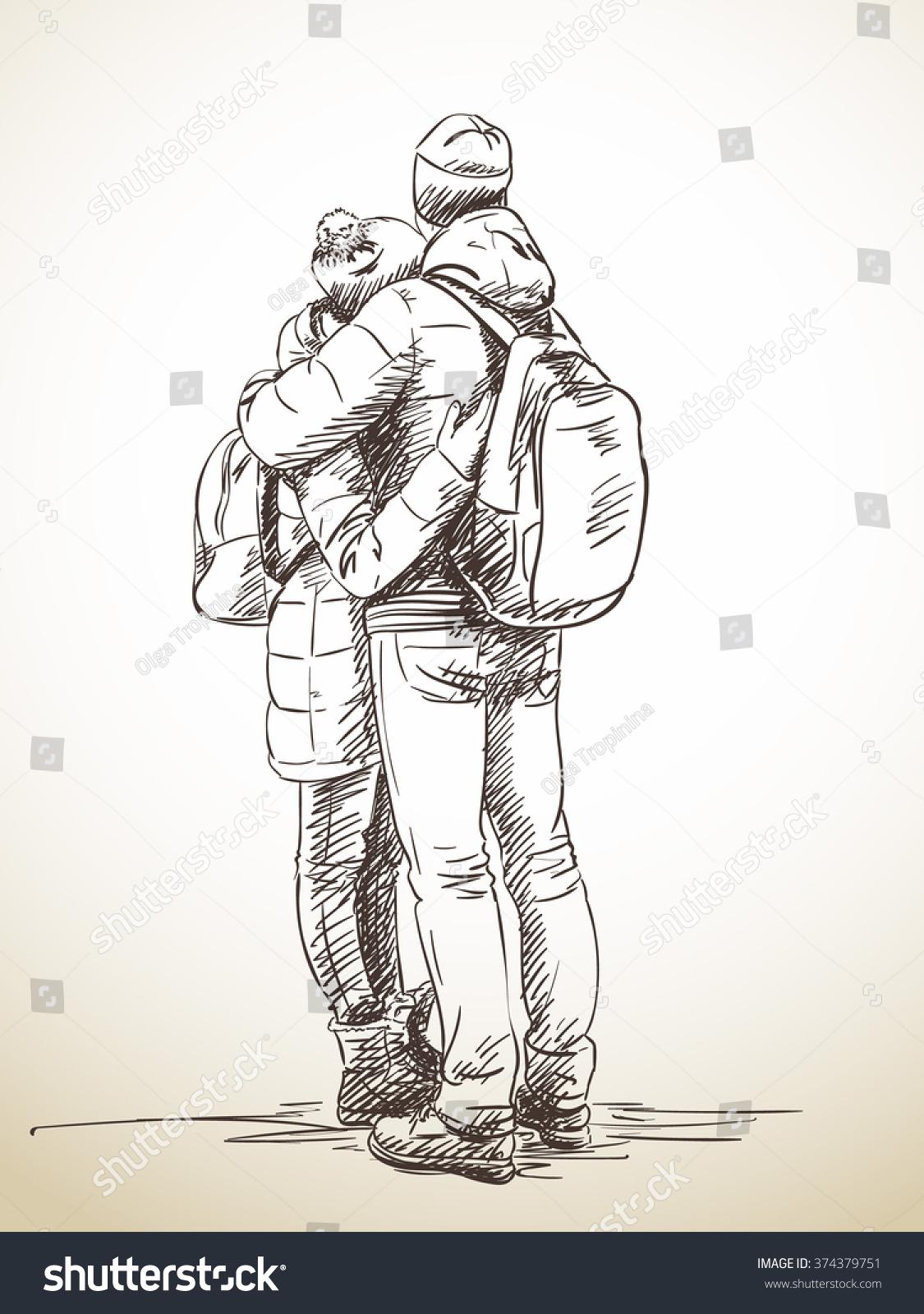 1125x1600 Photos Couple Back Hugging Drawing,