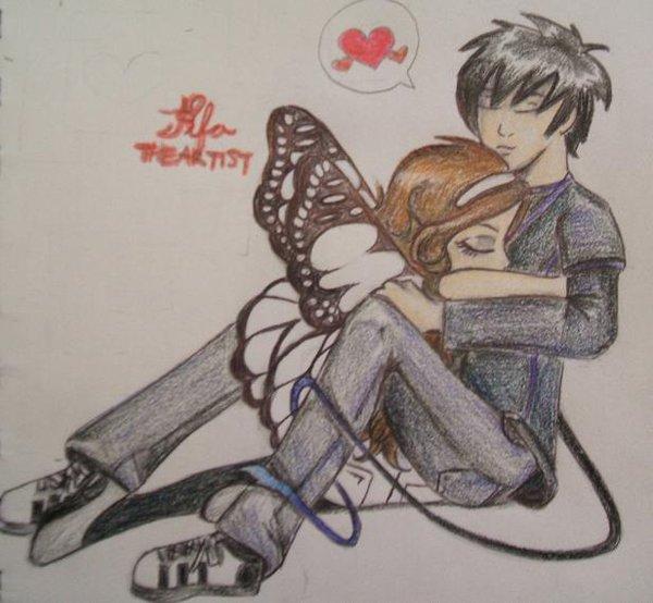 600x554 Cute Couple Hugs Drawing Art Couple Hugging