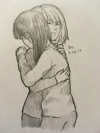 320x427 Hug Drawings On Paigeeworld. Pictures Of Hug