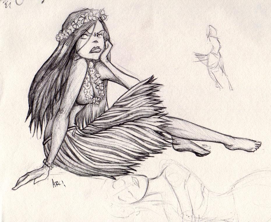 930x760 Hula Girl By Iamarg