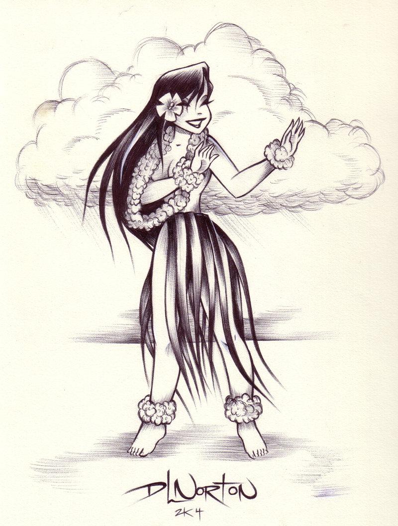 800x1056 Island Hula Girl By Dlnorton