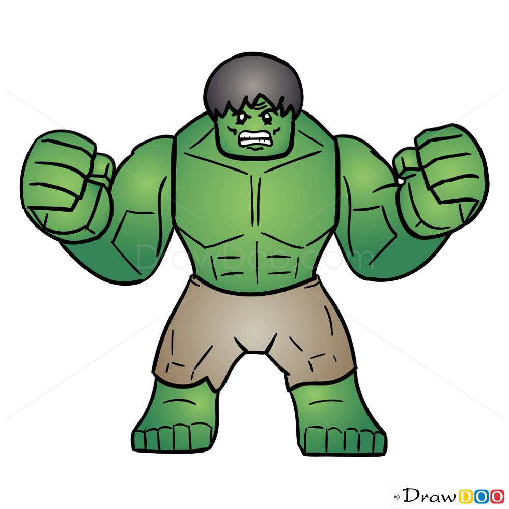 1000x1000 How To Draw Hulk Lego Super Heroes