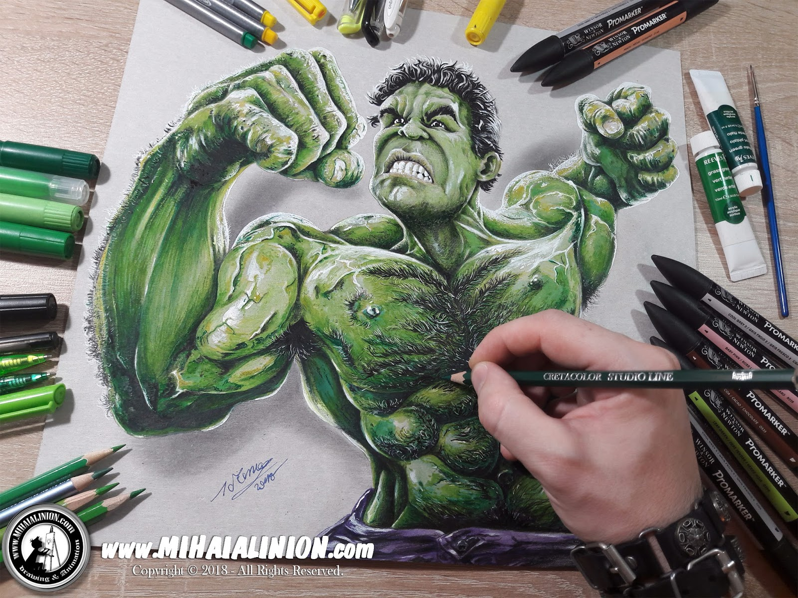 1600x1200 Drawing The Hulk