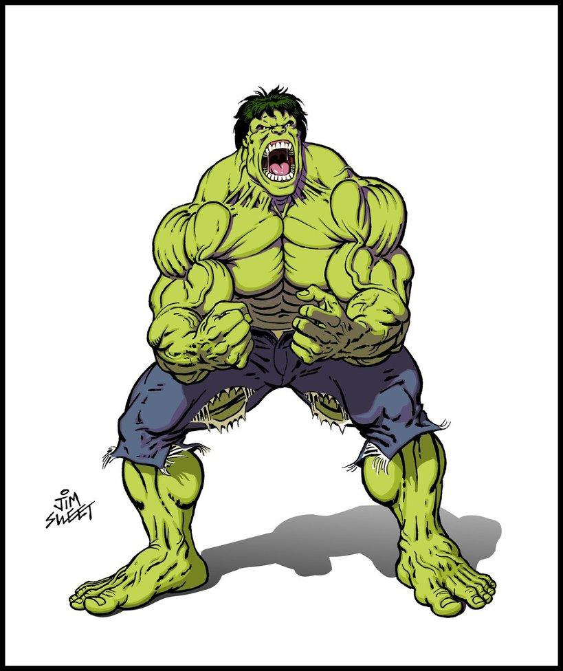 819x976 Hulk Drawing 002 By Jim Sweet