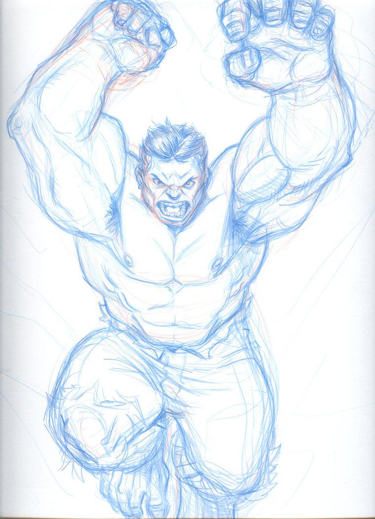 760x1052 Hulk Drawing By Kjvallentin