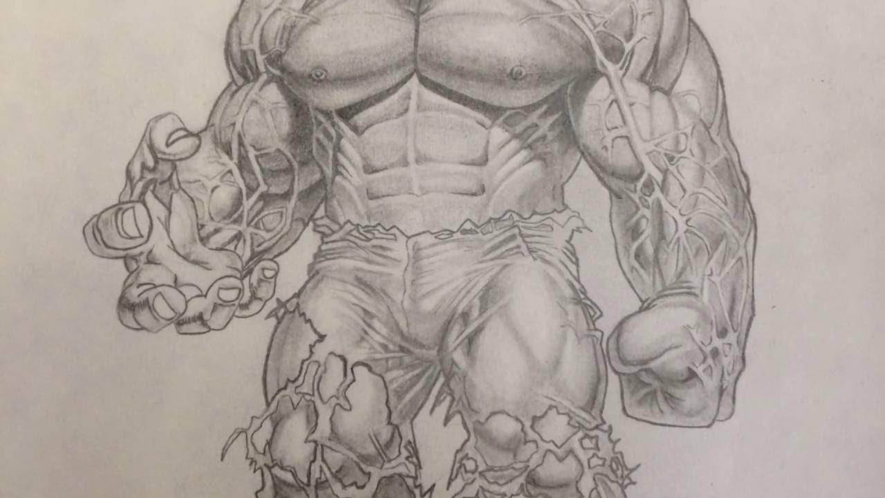1280x720 Sketch Drawings Of Hulk Incredible Hulk Pencil Drawing
