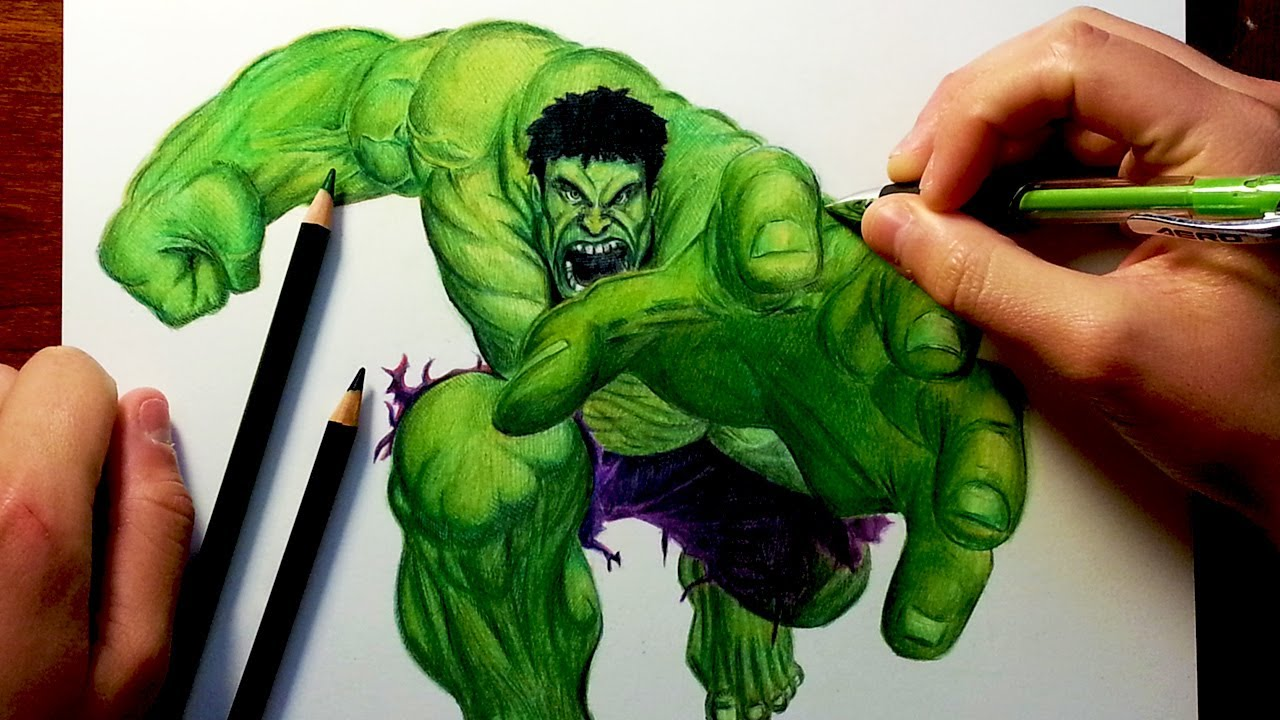 1280x720 The Hulk Before Amp After Drawing