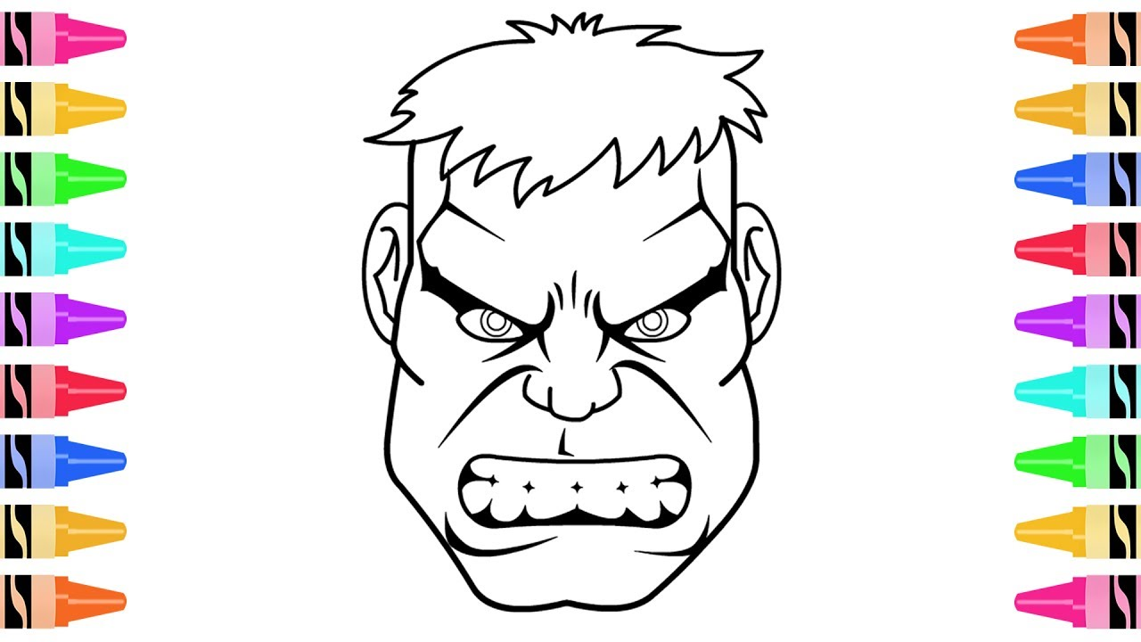 1280x720 How To Draw The Incredible Hulk Coloring Pages Kids Learn