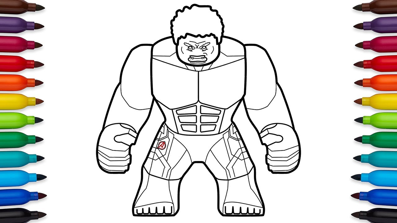 Hulk Drawing Pages At Getdrawings Com Free For Personal Use Lego Spiderman Coloring