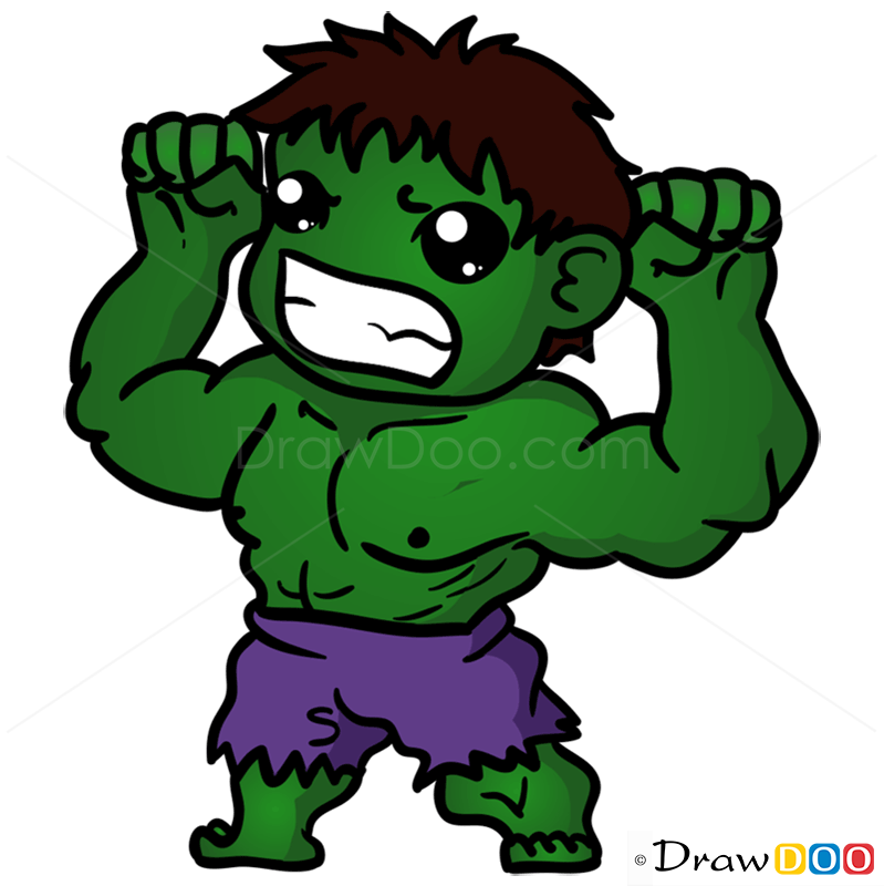 High Quality 799x800 How To Draw Hulk, Chibi