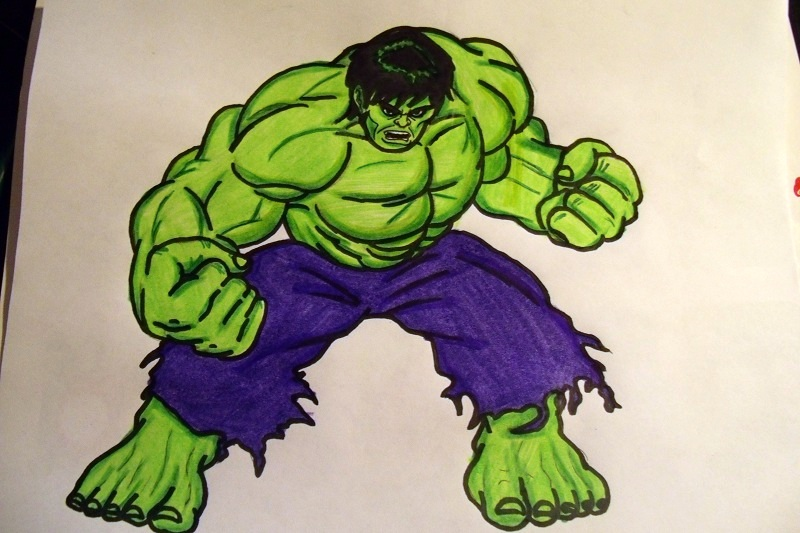 Hulk Easy Drawing at GetDrawings | Free download