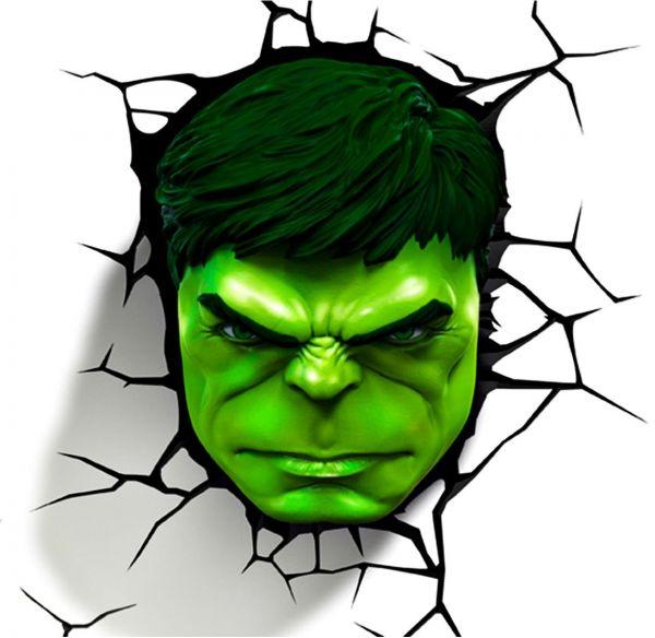 600x584 3d Light Fx 3d Hulk Face Light