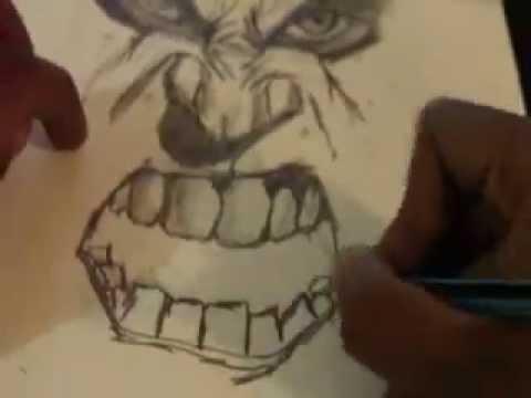 480x360 Drawing The Incredible Hulk
