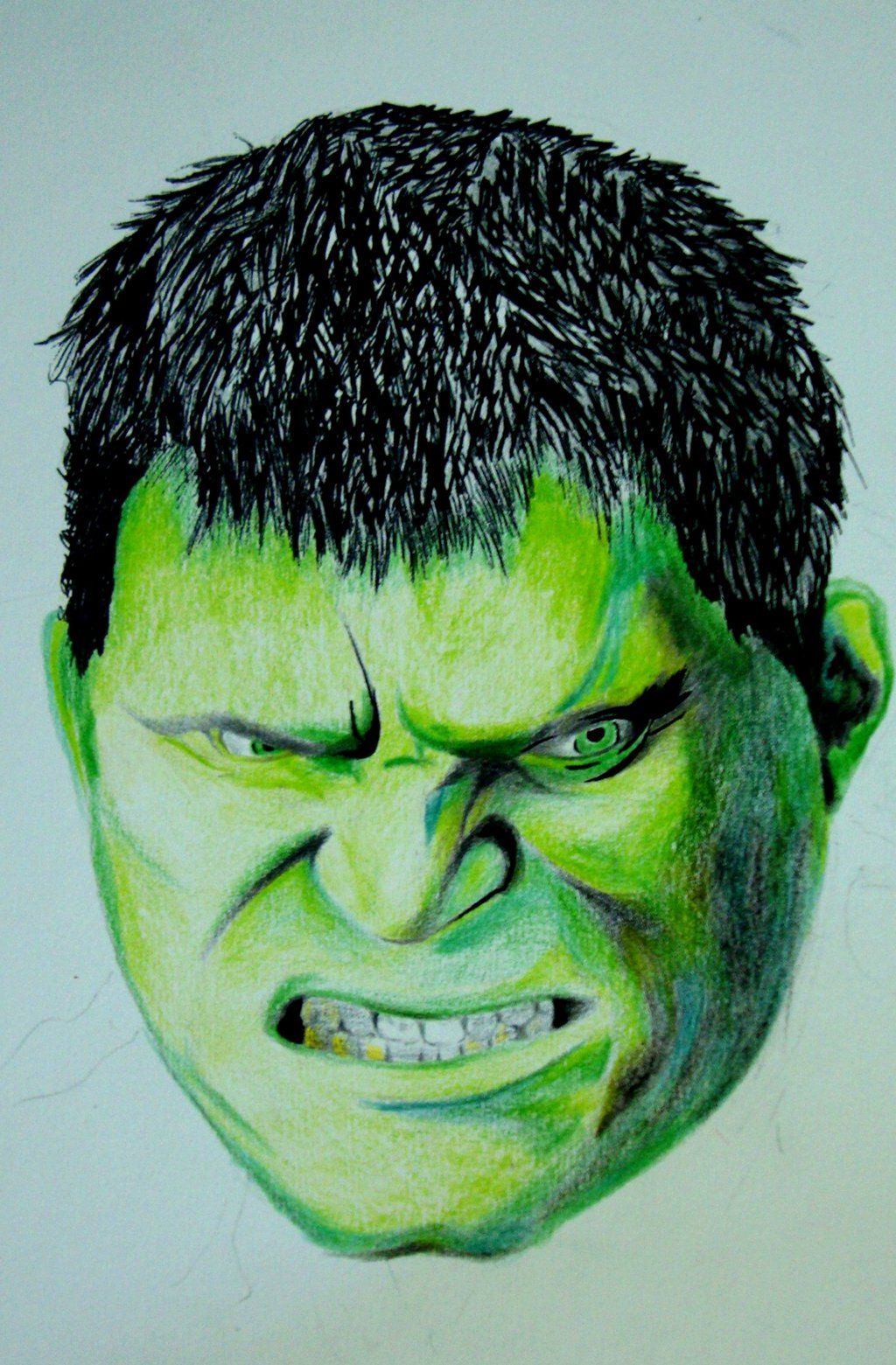 1024x1561 Hulk, Color Pencil Drawing By Robiartimre