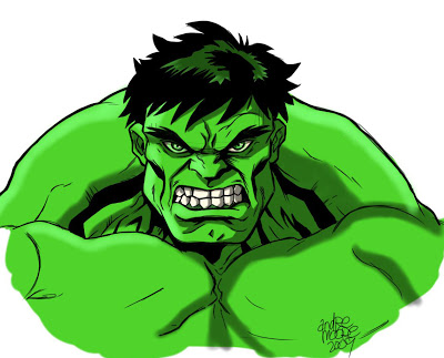 400x323 The Art Of Andre Moore Rough Hulk Drawing