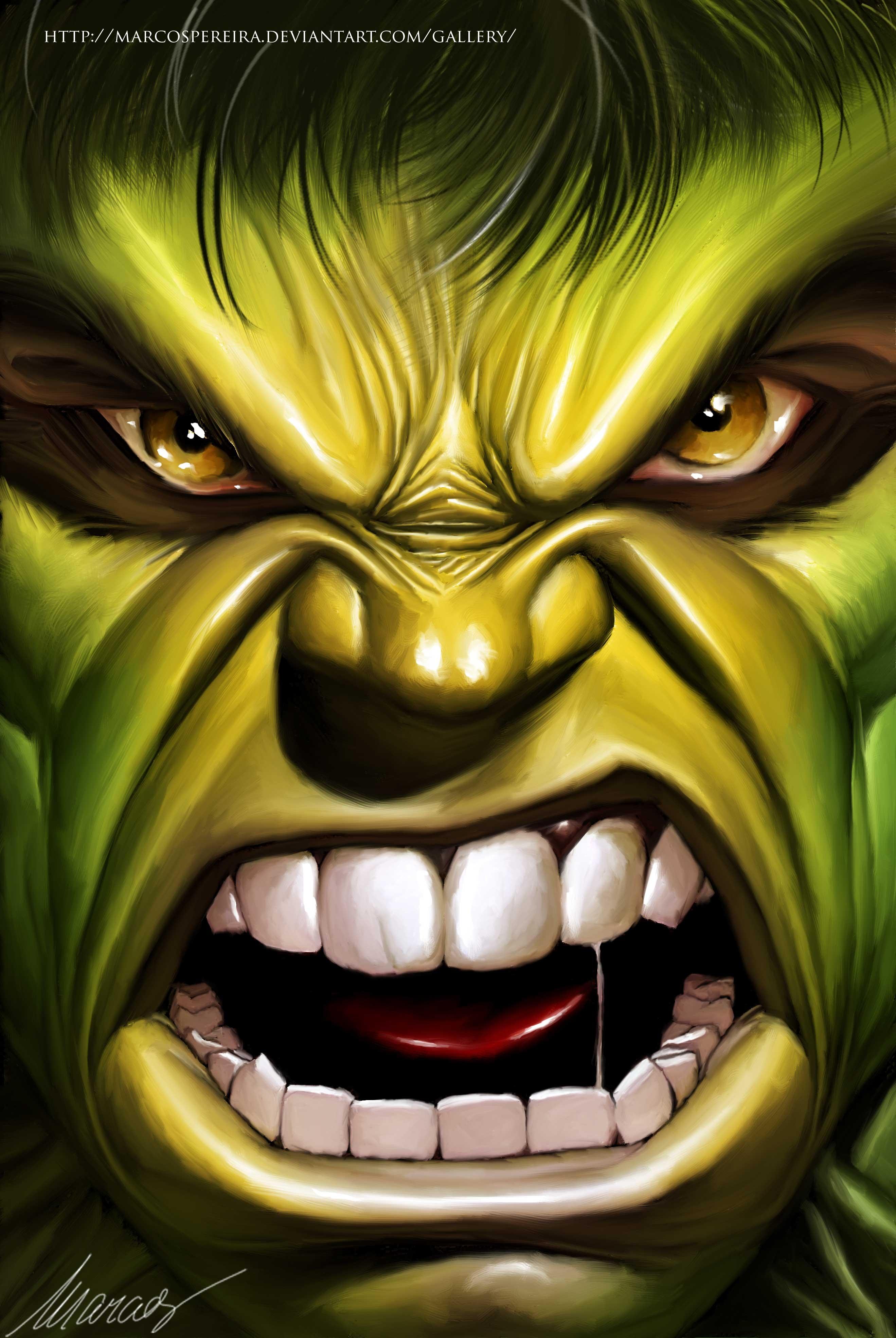 2638x3937 The Hulk Speed Drawing