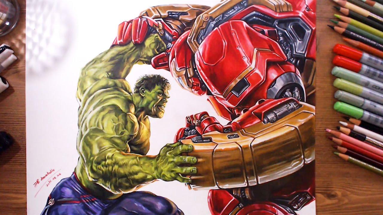 1280x720 Avengers Hulk Vs Hulkbuster(Veronica)