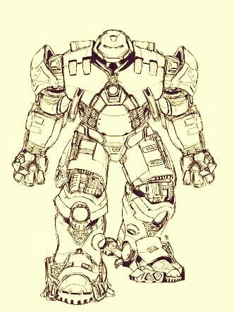 332x443 Draw Hulkbuster Marvel