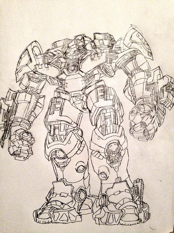 600x800 Em Jay On Twitter Hulkbuster's A Pain To Draw In The Same Way