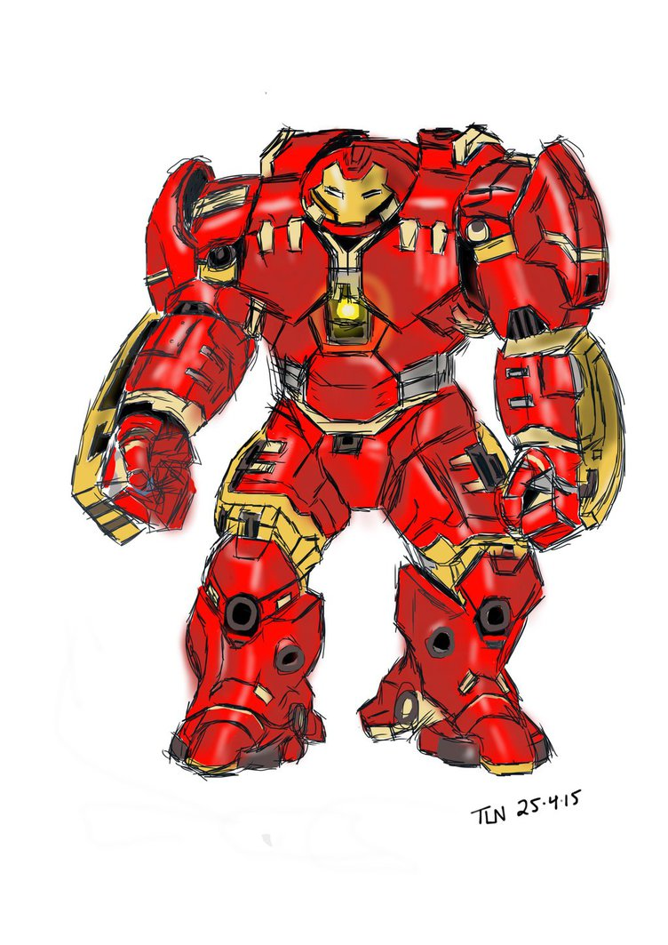 752x1063 Hulkbuster By Thuaners