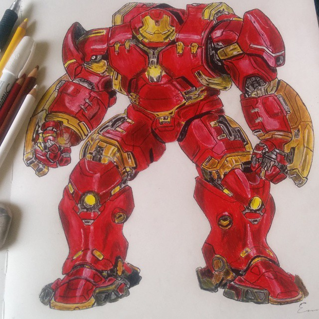 640x640 Hulkbuster My First Color Drawing By Emanhowell