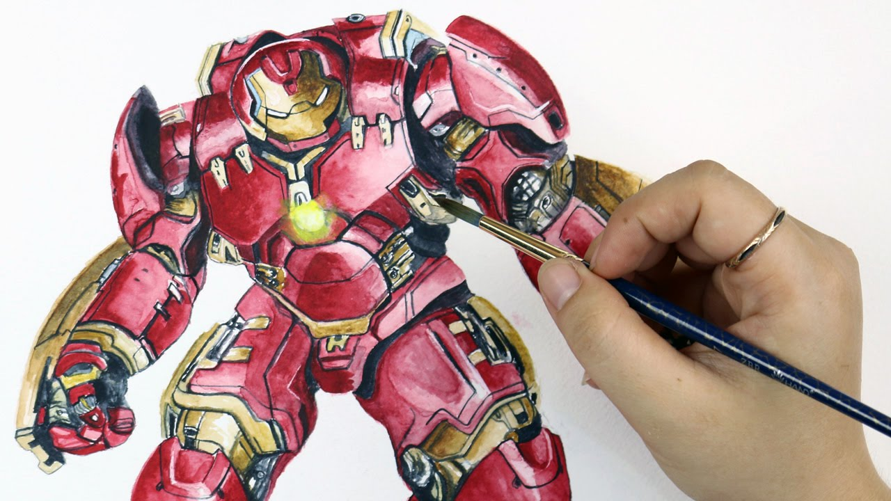1280x720 Speed Drawing Hulkbuster From Avengers Age Of Ultron