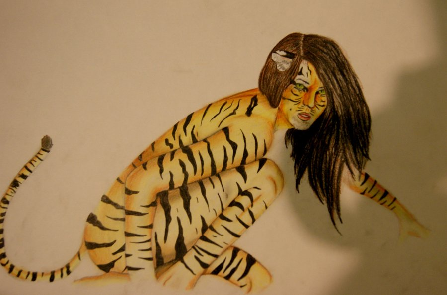 900x595 Human Animal Tiger Hybrid By Coreyrawr