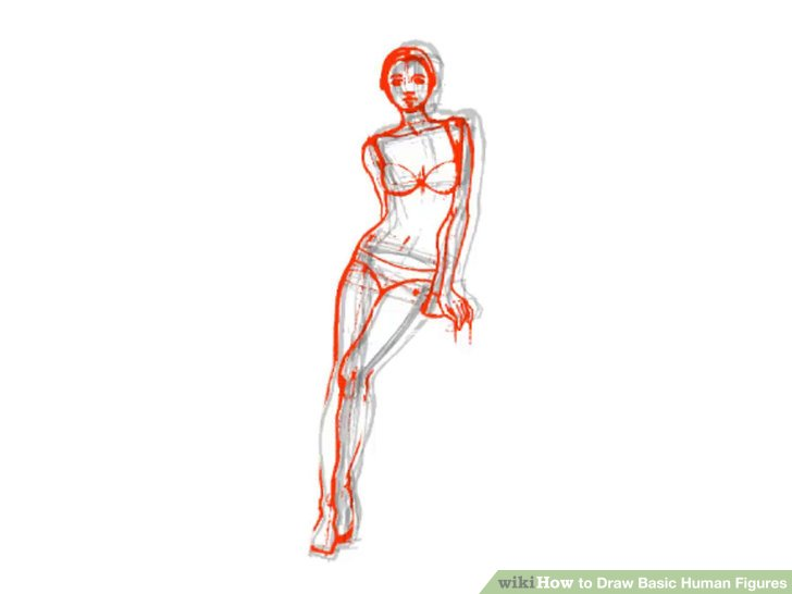 728x546 How To Draw Basic Human Figures 4 Steps (With Pictures)